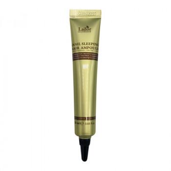 Ночная восстанавливающая сыворотка для волос La'dor Snail Sleeping Hair Ampoule 20 гр.