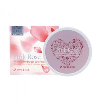 Витаминные гидрогелевые патчи для глаз 3W CLINIC Pink Rose Vitamin Hydrogel Eye Patch 60 гр.