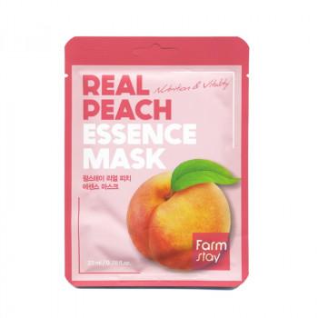 Маска для лица тканевая с экстрактом персика FarmStay Real Peach Essence Mask 23 гр.