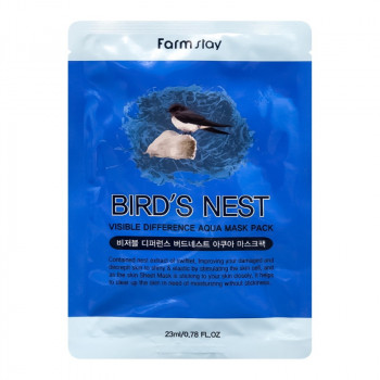 FarmStay Visible Difference Bird's Nest Aqua Mask Pack Тканевая маска для лица 23 гр.