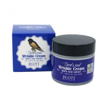 Антивозрастной крем с экстрактом ласточкиного гнезда JIGOTT Bird's Nest Wrinkle Cream 70 гр.