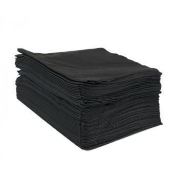 Полотенце черное Barber Style 45х90 см (50 шт) DEWAL