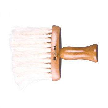 Кисть-сметка DEWAL,плоская, ручка-дерево, натуральная конская щетина
