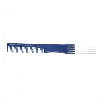 Расческа для начеса с металлическими зубцами синяя DEWAL BEAUTY