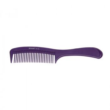 Расческа с ручкой фиолетовая DEWAL BEAUTY