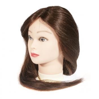 Голова-манекен учебная, 100% натуральные волосы,45-50 см