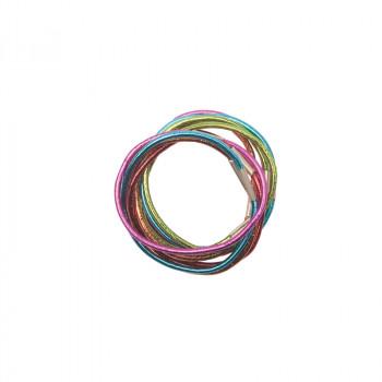 Резинки для волос цветные, midi (10 шт) DEWAL RE040