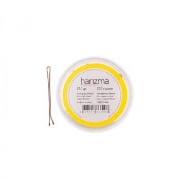 Невидимки 70 мм прямые коричневые 250 грамм harizma Коричневый