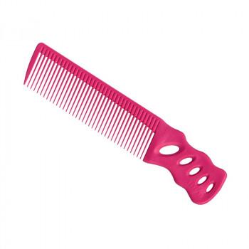 Парикмахерская расческа Y.S.Park YS-238-07 розовая