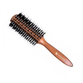 Брашинг Hairway Style на деревянной основе с натуральной щетиной, 28мм