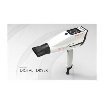Фен для сушки волос профессиональный Suntachi Smart Digital DD-2300 белый, 100 режимов работы прибора