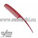 Парикмахерская расческа Y.S.Park YS-104-08 красная