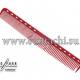Парикмахерская расческа Y.S.Park YS-339-08 красная