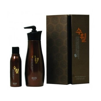 Набор корейских шампуней вост. медицины + мини-шампунь для путешествий 150 мл Suwall Luxury Professional shampoo