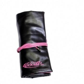 Чехол Ludovik для макияжных кистей черный с розовым