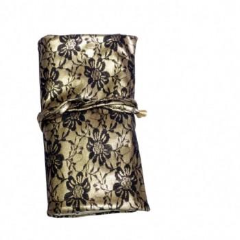 Чехол Ludovik для макияжных кистей кружево с золотом