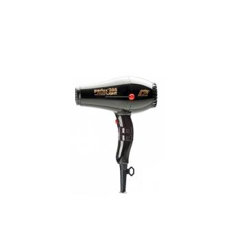 Легкий фен профессиональный Parlux 385 Ceramic+Ionic черный, 2150ВТ, подходит для бытового использования