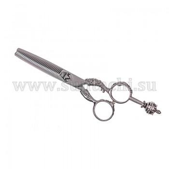 Филировочные ножницы Elizabeth 6035V silver