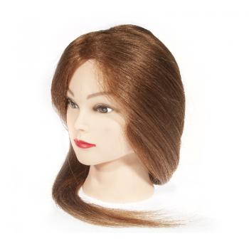 Голова-манекен учебная, 100% натуральные волосы, 45-50 см