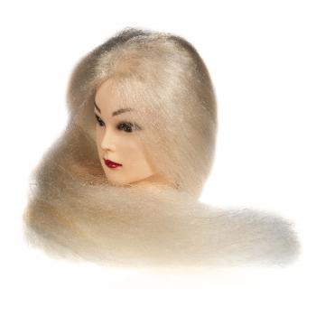 Голова-манекен учебная (гофрированный блонд), длина волос 70-75см