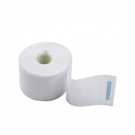 Воротнички бумажные с синей липучкой (100 шт)