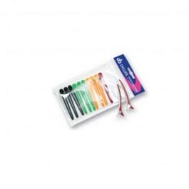 Зажим для волос Dewal цветной, пластик+ металл, 8 см, 12 шт/уп