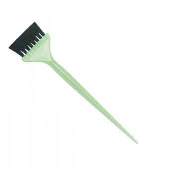 Кисть для окрашивания DEWAL зеленая, с черной волнистой щетиной, узкая 50мм