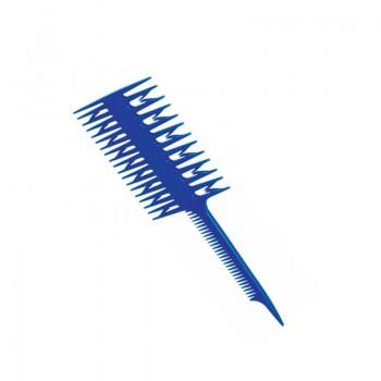 Расческа DEWAL для мелирования, двойная, синяя 21,5см