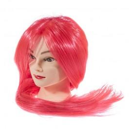 Голова-манекен учебная, 100% протеиновые волосы,70-75 см