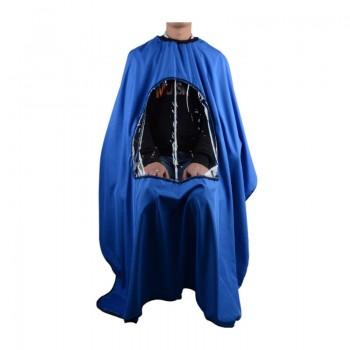Пеньюар синий с окошком 25693