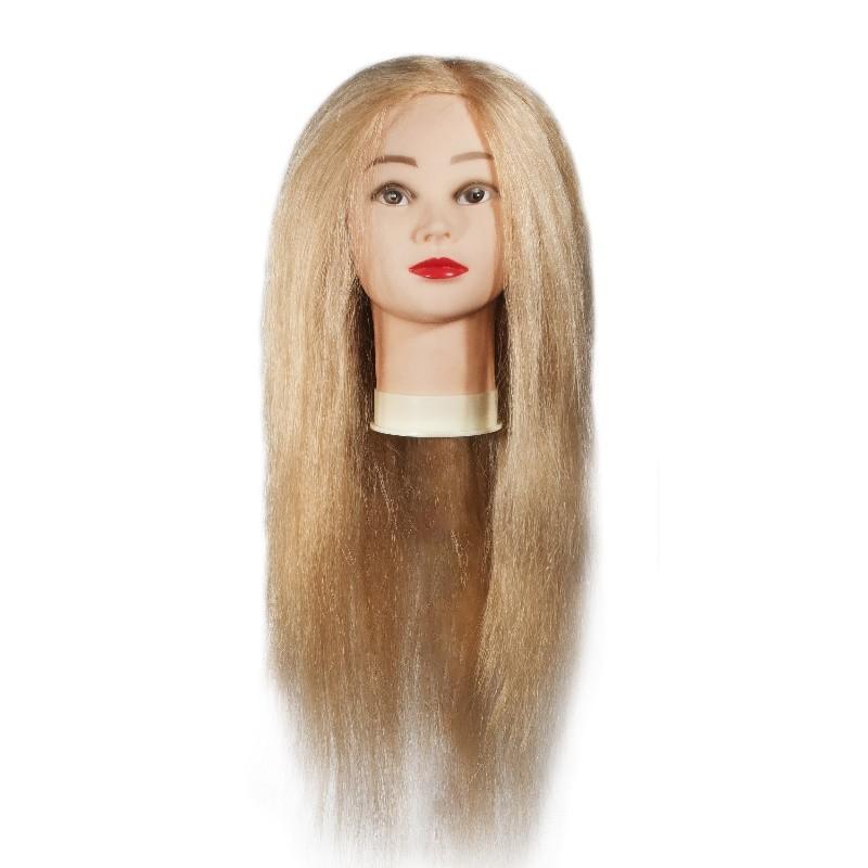 Учебная голова манекен натуральные волосы