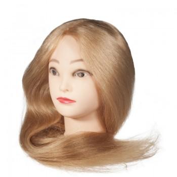 Голова-манекен учебная, натуральные волосы, длина 70-75см