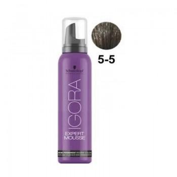 Igora Expert Mousse Тонирующий мусс для волос 5-5 Светлый коричневый золотистый 100мл