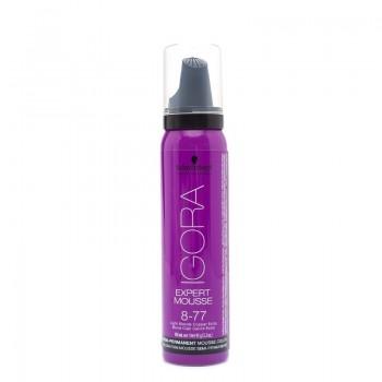 Igora Expert Mousse Тонирующий мусс для волос 8-77 Светлый русый медный экстра 100мл