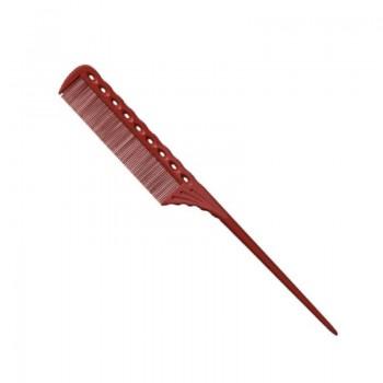 Парикмахерская расческа Y.S.Park YS-115-08 красная
